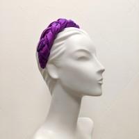 pink purple shot silk headband